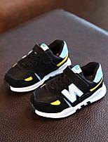 Черный Серый-Дети-Для прогулок Повседневный-Дерматин-На плоской подошве-Удобная обувь-На плокой подошве