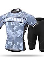 XINTOWN Camisa com Shorts para Ciclismo Homens Manga Curta MotoRespirável Secagem Rápida Resistente Raios Ultravioleta Permeável á
