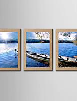 Estampado Giclée Famoso Paisagem Realismo Clássico,3 Painéis Panorâmico Vertical Impressão artística Decoração de Parede For Decoração
