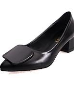 Women's Heels Spring Comfort PU Outdoor Chunky Heel Block Heel Black Gray Burgundy