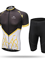 XINTOWN Maillot et Cuissard de Cyclisme Femme Homme Unisexe Manches courtes VéloRespirable Séchage rapide Résistant aux ultraviolets