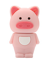 64GB Pink Piglet Rubber USB2.0 Flash Drive Disk