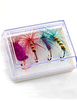 2 штук Мухи Случайный цвет 5 г Унция мм дюймовый,Пластик Обычная рыбалка
