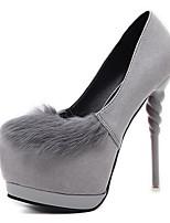 Черный СерыйДля праздника-Флис-На шпильке-клуб Обувь-Обувь на каблуках