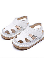 Baby Flats Spring Fall First Walkers PU Outdoor Casual Flat Heel Magic Tape White Walking