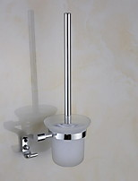 Toilet Brushes & Holders Modern Round Stainless Steel