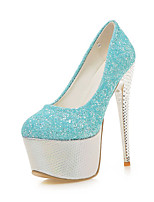 Heels Spring Summer Fall Winter Club Shoes Synthetic Office & Career Party & Evening Dress Stiletto Heel Sequin Blue Pink Purple