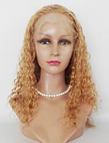 16-22inch # 27 kinky krullen menselijk haar kant pruiken onbehandeld haar kant voor pruiken voor vrouwen