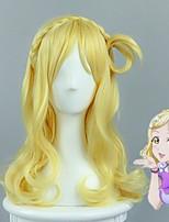 lovelive! солнце !! Мари Охара прекрасный culy косу в стиле золотой парик косплей женщин Хэллоуин парики высокого качества устойчивостью