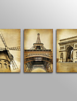 Tela de impressão Paisagem Tradicional,3 Painéis Tela Horizontal Impressão artística Decoração de Parede For Decoração para casa