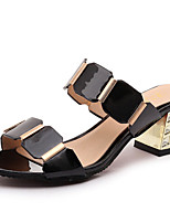 Sandals Spring Summer Fall Gladiator Synthetic Office & Career Party & Evening Dress Casual Chunky Heel Black White
