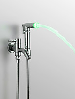 Contemporâneo Ducha de Mão Cromado Característica for  LED Efeito Chuva , Lavar a cabeça
