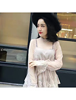 Korean version of sweet and elegant temperament net yarn lace two-piece dress cake skirt fashion