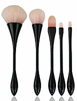 5pcs Contour Brush Makeup Brush Set Blush Brush Eyeshadow Brush Lip Brush Brow Brush Concealer Brush Powder Brush Foundation BrushSynthetic