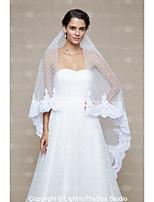 Свадебные вуали Один слой Фата для венчания Кружевная кромка Сеть