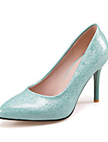 Women's Heels Spring Summer Fall Winter PU Office & Career Dress Party & Evening Stiletto Heel Black Green Blushing Pink