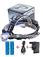 U'King® ZQ-X837BL#1-UK CREE XML T6 Zoomable 180 Rotate 3Modes Headlamp Bike Light Kits with Rear Safety LED