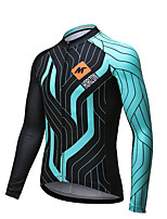 Mysenlan Cycling Jersey Men's Long Sleeve Bike Quick Dry Jersey Polyester Classic Fashion Spring Summer Fall/Autumn