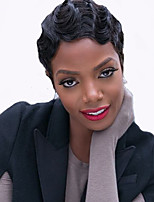 Short Wig Black Curly Synthetic Wigs For Afro Women