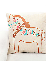 1 pcs Polyester Pillow Cover,Animal Print Accent/Decorative