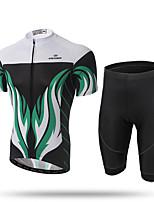 XINTOWN Maillot et Cuissard de Cyclisme Homme Manches courtes VéloRespirable Séchage rapide Résistant aux ultraviolets Perméabilité à