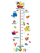 Wall Stickers Wall Decals Style Sea Animals Measure Your Height PVC Height Stickers