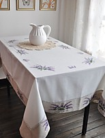 150x220cm Rectangular Embroidered Table Cloth Cotton Embroidery Tablecloth