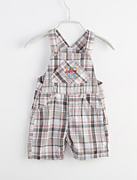Baby Casual/Daily Solid Houndstooth One-Pieces,Cotton Summer Sleeveless