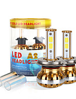 2017 9003 nouvelle puce h4 kit phare 120W 9800lm conduit cob 6000K 8000K ampoules de lampes paire lumière