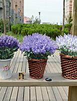 1 Une succursale Plastique Lavande Fleur de Table Fleurs artificielles 20*20*30