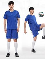Herrn Fußball Kleidungs-Sets/Anzüge Atmungsaktiv Komfortabel Frühling Sommer Herbst Winter einfarbig Polyester Freizeit Sport Fussball