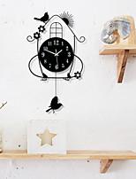Ретро Домики Настенные часы,Новинки Прочее Прочее 70*36 В помещении Часы