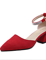 talones del resorte zapatos del club de vellón grueso vestido de diamantes de imitación talón