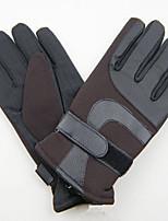 Unisex Faux Fur PU Wrist Length,Solid Work Casual Winter