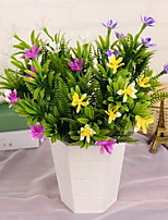 1 Branch Plastic Others Tabletop Flower Artificial Flowers Magnolia