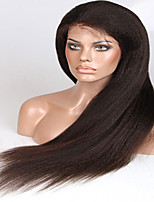 8A 8-26inch Free Part Glueless Full Lace Wigs Yaki Straight Brazilian Human Hair Lace Wig For Woman with Baby Hair