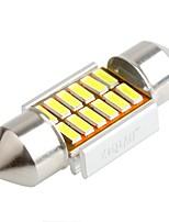 ZIQIAO 31MM 12 SMD LED 4014 CANBUS Car Festoon Interior Light Bulbs(12V/2PCS)