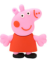 USB2.0 Flash Drive Disk 128GB Pink Pig Paige Rubber