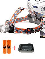 U'King® ZQ-X830S#2-EU CREE XML-T6 LED 2000LM Zoomable 180 Rotate 3Modes Headlamp Bike Light Kits with Rear Safety LED
