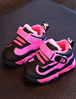 Baby Flats Winter First Walkers Leatherette Outdoor Casual Low Heel Magic Tape Black Yellow Fuchsia Walking