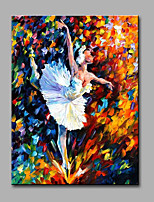 Hand-Painted Abstract Ballerina Horizontal Modern Classic One Panel Canvas Oil Painting For Home Decoration