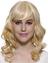 монолитная светлых парик длинная волнистая синтетических волокон костюм косплей парики тепло стойких волос