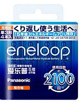 eneloop 3mcca aa bateria de níquel de metal hidreto 1.2v 1900mAh 4 pacote