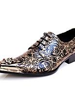 Для мужчин Туфли на шнуровке Для прогулок Оригинальная обувь Кожа Весна Лето Осень Зима Повседневные Для вечеринки / ужинаС металлическим