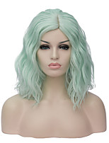 The European and American fashion party fluorescent green noodles volume cos brief paragraph wig