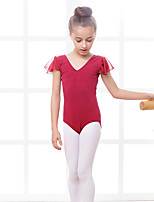 Ballet Leotards Children's Training Cotton Spandex 1 Piece Leotard