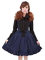 Skirt Sweet Lolita Cosplay Lolita Dress Blue Red Striped Sleeveless Knee-length Skirt For Terylene Polyester