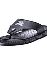 Черный Коричневый Светло-зеленыйДля прогулок Повседневный-Полиуретан-На плоской подошве-Удобная обувь Светодиодные подошвы-Тапочки и