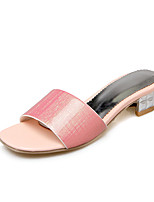 Women's Sandals Summer Fall Comfort PU Patent Leather Dress Casual Low Heel Chunky Heel