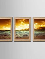 Impression Giclée Célèbre Paysage Classique Réalisme,Trois Panneaux Panoramique Verticale Imprimer Art Décoration murale For Décoration